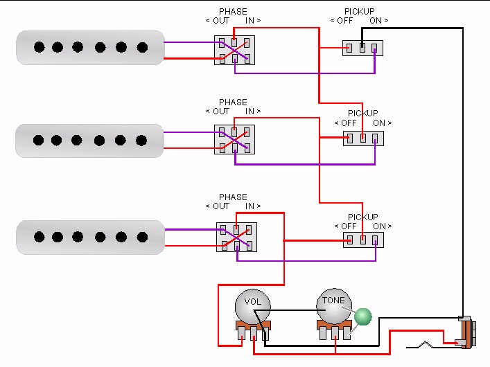 craig s giutar tech resource wiring diagrams brian s red special view diagram