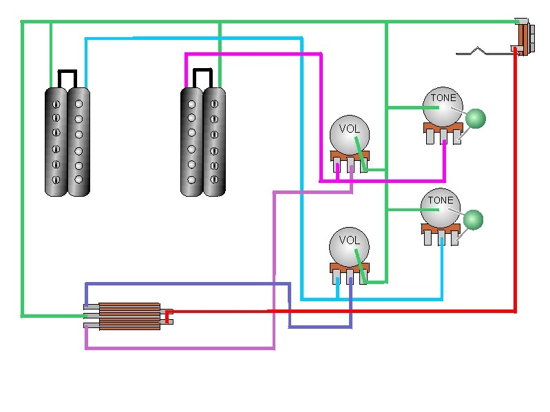 CRAIG'S GIUTAR TECH RESOURCE - Wiring Diagrams on humbucker wiring-diagram af55 art, humbucker pickup parts, 2 humbucker 5-way switch wiring diagram, humbucker pickup assembly, les paul wiring diagram, humbucker 1 volume 1 t-one wiring diagram, volume control wiring diagram, humbucker wiring options, 2 volume 1 tone wiring diagram, strat wiring diagram, seymour duncan wiring diagram, humbucker pickup dimensions, fender humbucker wiring diagram, humbucker pickups for stratocaster, humbucker wiring colors, humbucker pickups explained, cigar box guitar wiring diagram, humbucker pickup frame, humbucker pickup system, explorer guitar wiring diagram,