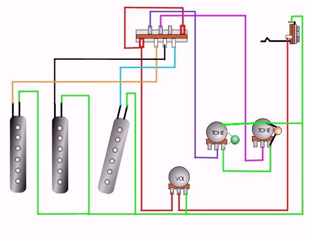 tech08  Humbucker Volume Tone Wiring Diagrams on gibson sg, 1 single coil guitar pick up, pickups series,