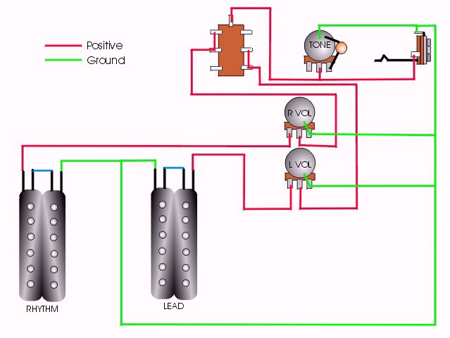 CRAIG'S GIUTAR TECH RESOURCE - Wiring Diagrams on toggle with 1 pickup wiring diagram, humbucker pickup wiring diagram, 2 tone 1 volume bass diagram,