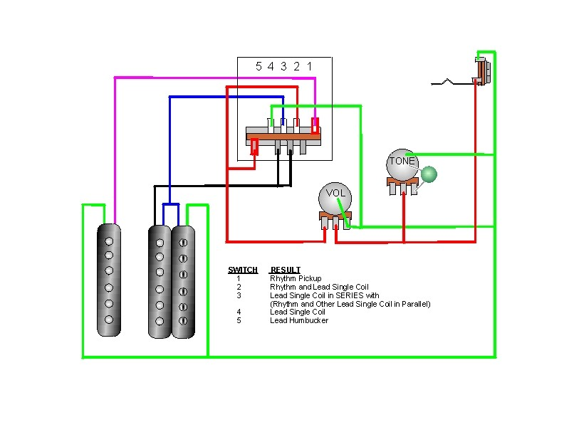 craig's giutar tech resource wiring diagrams humbucker wiring schematics selector switch, view diagram