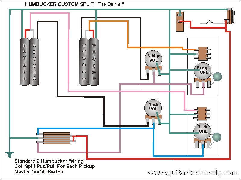 craig\u0027s giutar tech resource wiring diagrams Push Pull Coil Tap Diagrams