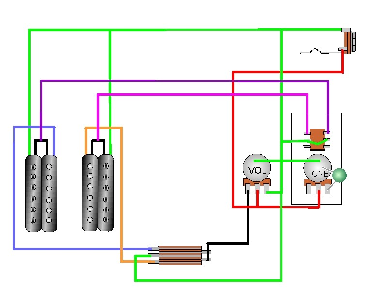 2 Humbucker Coil Tap Wiring Diagram from www.guitartechcraig.com